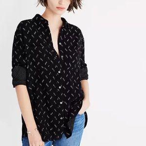 Madewell Oversized Ex-Boyfriend Shirt-Zigzag Ikat